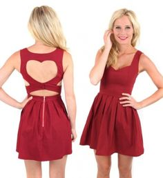 Red wine heart cut out bustier dress Bustier Dress, Dress Skirt, Dress Up, Heart Dress, Look Fashion, Fashion Beauty, Fashion Outfits, Red And White Outfits, Valentines Day Dresses