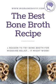 Perfecting a beef bone broth recipe for migraine relief is a bit tricky. Here are vital tips to make it easier. For centuries beef bone broth has been used to cure. Headache Diet, Migraine Diet, Migraine Relief, Migraine Pain, Pain Relief, Best Bone Broth Recipe, Natural Remedies For Migraines, Beef Bone Broth, Organic Beef