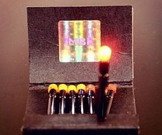 Tiny Flashlights In A Matchbook