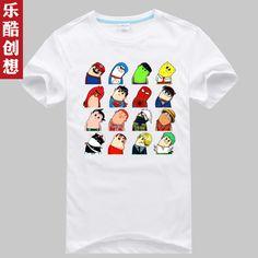 Creativity cartoon T-shirt personalized short-sleeve shirt men's clothing short-sleeve t-shirt short-sleeve