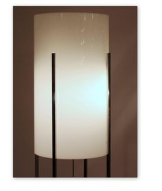 Chrome Base Floor Lamp with Lucite Cylinder Shade by Habitat 'Six Light Sockets' 2