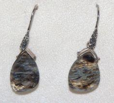 Pendientes con cristal tallado tipo ágata y montura por PetraCool