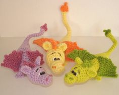 Made to order/ dragon amigurumi, crochet dinosaurs, dragon,  stuffed plush cuddly soft animal doll, toy for kids. Price is for one item.