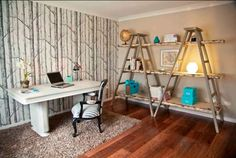 Ladders can become a statement piece in your home décor! See lots of great uses for them here!