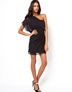 Image 4 - ASOS - Mini robe avec drapé asymétrique