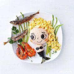 Be like a Mermaid with no fear of depths. #leesamantha #foodart