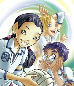 Hay Lin, Cornelia and Taranee from W.I.T.C.H., Disney