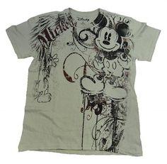AUTHENTIC Disney Heraldland Mickey Mouse MENS TAN T-SHIRT
