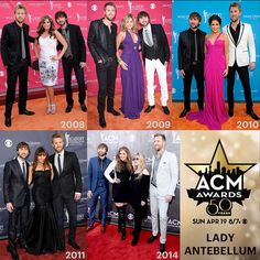 ACM Awards #FashionFriday Flashback: Take a look at Lady Antebellum's style through the years! #ACMawards50 @ladyantebellum
