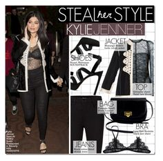 """""""Celebrity Style: Kylie Jenner"""" by hafsahshead ❤ liked on Polyvore featuring Givenchy, Muzungu Sisters, J Brand and Stuart Weitzman"""