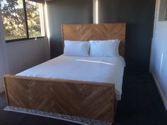 Custom made herringbone bed | Beds | Gumtree Australia Belconnen Area - Flynn | 1152571883