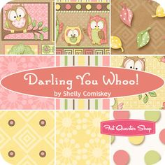 Darling You Whoo! Yardage Shelly Comiskey for Henry Glass Fabrics - Fat Quarter Shop