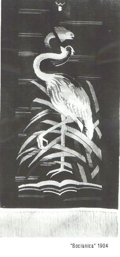 Wanda Bibrowicz, Śląska Strażniczka Wiary Słowian  – Bocianica (kilim), bocian - boży ptak Słowian