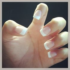 White tip classic French manicure: want this for my nails all the time!