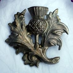 Antique Scottish Thistle Brooch. The thistle is the national symbol of Scotland. See: http://www.ormiston.com/ormiston/tartan/thistle.htm