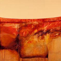 Acrylic painting by Karen Poulson. (Tangerine tango, original art, orange)