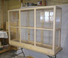 "Custom Built Bird Cage -  Spacious Flight cage 40"" tall, 60"" wide, 22"" deep"