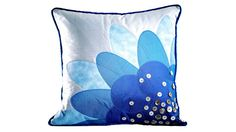 Pfaff - Ambition™ Cushion with Appliqué Flower. Note to self : try out the projects for my machine on the Pfaff website.