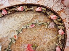 lace and ribbonwork French tray