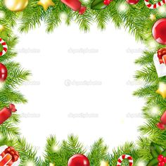 Christmas Tree Border — Stock Vector © barbaliss #7888745