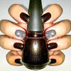 "Itsy bitsy spider... ChinaGlaze midtown magic Catrice ""color brightening base"" Lesly stamping plate LS-12  #tjakasasnails #chinaglaze #nagellack #nailporn #catrice #naildesign #nailsart #catricecosmetics #nailswag #naillacquer #halloweennails #spidernails #halloween #nageldesign #chinaglazemidtownmagic #nailstamping #chinaglazeofficia l#naturalnails"