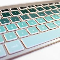 Keycals!   green ombre kidecals - Created for Mac (Apple) keyboards only. Printed on premium quality removable vinyl with a non-residue acrylic adhesive that's ideal for delicate surfaces.