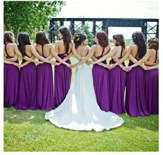 Bride and bridesmaids shot... love this purple for the bridemaids