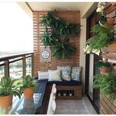Delícia de varanda. Projeto By Larissa Catossi #decor #decora #decoração #decorando #decoration #desing #detalhes #details #apartamentopequeno #apartamentodecorado #inspiration #inspiração #sacada #varanda #aconchego #lardocelar #casanova