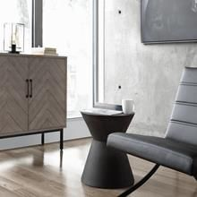 Hourglass Concrete Side Table