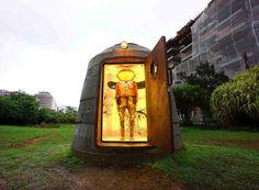 os gemeos hides a sculpture in pascali semerdjian's military bunker