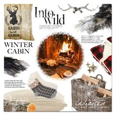 """""""Into the Woods: Cozy Cabin"""" by elena-777s ❤ liked on Polyvore featuring interior, interiors, interior design, home, home decor, interior decorating, Garden Trading, Jayson Home, Anja and Lucky Brand"""