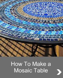 Decorative Mosaic Tables are a beautiful project to make.