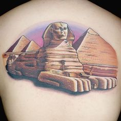 Check out this high res photo of Chris Blinston's tattoo from the Egyptian… Egypt Tattoo Design, Tattoo Designs, Tattoo Ideas, Egyptian Art, Sphinx Tattoo, Ink Master Tattoos, Egyptian Tattoo Sleeve, Pyramids Egypt, Egypt