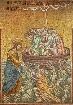 Jesus Lifts Peter