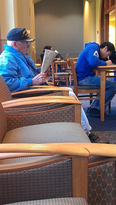 This man is a WWII and Korean War veteran that goes to my 4 year University. You're never too old to learn. - Imgur