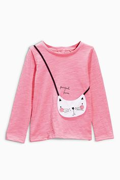 Buy Pink Cat Purse T-Shirt (3mths-6yrs) from the Next UK online shop