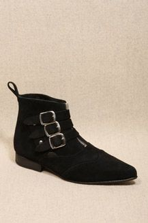 Underground Shoes Black Suede Winkle Boots
