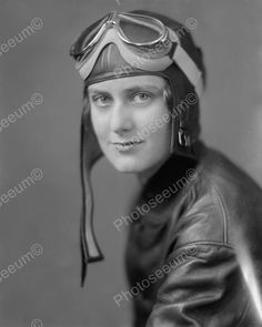 Female Pilot In Flight Gear1940's Vintage 8x10 Reprint Of Old Photo