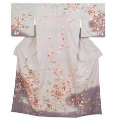 訪問着レンタルH349 Traditional Kimono, Traditional Fashion, Traditional Outfits, Japanese Geisha, Japanese Kimono, Kimono Design, Married Woman, Yukata, Formal