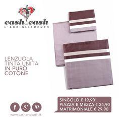 Colora i tuoi sogni con le #lenzuola coordinate in #puro #cotone. Ampia scelta per tutti i gusti! #cashandcash #umbria