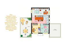 Maison - Une maison de verre - JPL Constructions - 390000 euros - 180 m2 | Faire construire sa maison Floor Plans, Diagram, How To Plan, France, House Of Glass, House Template, Large Office Desk, Young Couples, French Resources