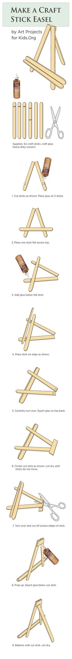 Craft Stick Easel Tutorial | Art Projects for Kids.Org