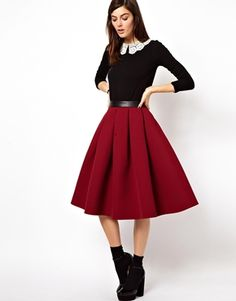 Obsessing lately over full skirts. This outfit is just perfect for a nice winters day dinner party