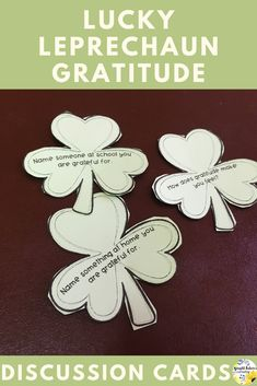 Lucky Leprechauns Gratitude Discussion Cards and Activity Pack - St. Middle School Counseling, Elementary School Counselor, Elementary Schools, World History Teaching, World History Lessons, Bullying Prevention, Character Education, Yoga For Kids, Classroom Activities