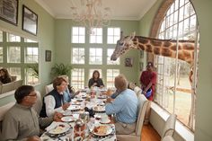 Giraffe Manor - beim Frühstück