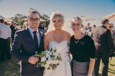 Celebrant Michelle Shannon with Katie and Lee at North Byron Events - Byron Bay Byron Bay Weddings, Beautiful Couple, Wedding Ceremony, Events, Bride, Couples, Wedding Dresses, Celebrities, Fashion