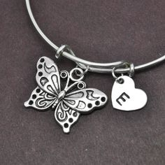 A personal favorite from my Etsy shop https://www.etsy.com/listing/219492789/butterfly-bangle-sterling-silver-bangle