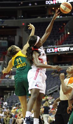 WNBA players Crystal Langhorne (Washington Mystics) and Tianna Hawkins (Seattle Storm) played for the University of Maryland, College Park.