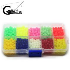 1000pcs/set Carp Fishing Lures Fishing Beads 5mm Plastic Floating Fishing Beads Luminous Carp Fishing Accessories free shipping worldwide