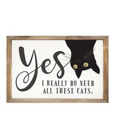 Brighten your décor with this wood wall art that features whimsical feline-inspired imagery and a heartwarming sentiment. Crazy Cat Lady, Crazy Cats, Crazy Dog, I Love Cats, Cool Cats, Cat Signs, Gatos Cats, Cat Room, Cat Decor